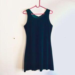 Dresses & Skirts - vintage 90's green velvet grunge tank dress medium